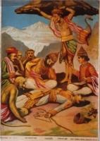 「ラーマーヤナ」の一場面(インド・20世紀前半)個人蔵