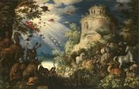 ルーラント・サーフェリー 《動物に音楽を奏でるオルフェウス》 1625 年、油彩・キャンヴァス、プラハ国立美術館、チェコ共和国 The National Gallery in Prague