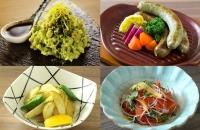 緑茶ソーセージ、抹茶ポテサラ等のお茶料理は全13品