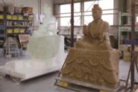 3Dの樹脂型から中尊のロウ型をつくる