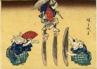 歌川広重「猫の鰹節渡り 」