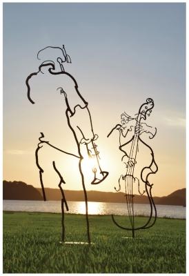 線が奏でるJAZZ~鉄筋彫刻の世界~ 徳持耕一郎個展