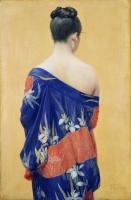 岡田三郎助《あやめの衣》1927年(昭和2) ポーラ美術館蔵