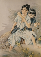高畠華宵 《月下の小勇士》 1929、弥生美術館 [後期展示]