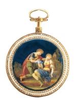 真珠装飾付エナメル彩懐中時計 スイス 18世紀