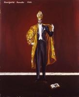 「権威ある者の如く」 油彩、キャンバス、