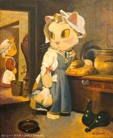 買い物帰りの女中猫 (ニャン・ニャメオン・ニャルダン作)