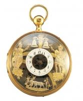 からくり付クォーターリピーター付懐中時計 スイス 19世紀