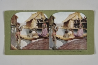 「ヴィサヤ族、フィリピン村」(セントルイス万国博覧会)1904年、個人蔵
