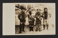 「ラブラードールから来たエスキモーの家族」(アラスカ・ユーコン太平洋博覧会)1909年、個人蔵