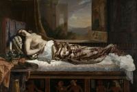 ゲルマン・フォン・ボーン 《クレオパトラの死》 1841年 油彩・カンヴァス ナント美術館蔵 © RMN-Grand Palais / Gérard Blot / distributed by AMF