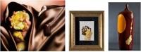 ◆プラリネ日向夏 ◆絵画 210×150mm  額435×378mm ◆ガラス彫刻 275×100×75mm
