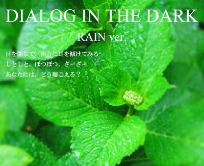 ダイアログ・イン・ザ・ダーク レインバージョン / Rain ver.