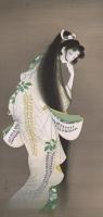 上村松園 《焰》     大正7年、東京国立博物館、東京展のみ、2週間展示